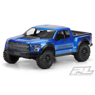 Proline Racing PRO 346100 2017 Ford F-150 Raptor True Scale Clear Body for Slash 2wd, Slash 4x4 & PRO-Fusion SC 4x4 (with extended body mounts)
