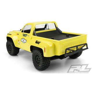 Proline Racing PRO 351000 1978 Chevy C-10 Race Truck Clear Body for Slash 2wd, Slash 4x4 & PRO-Fusion SC 4x4 (with extended body mounts)