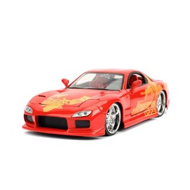 JADA TOYS JAD 30747 FAST AND FURIOUS ORANGE JULIUS MAZDA RX7 1/24 DIE-CAST