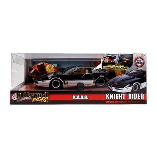 """JADA TOYS JAD 31115 Jada 1/24 """"Hollywood Rides"""" Knight Rider K.A.R.R. with lights DIE CAST"""