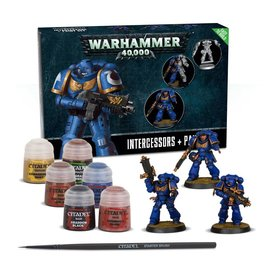 GAMES WORKSHOP WAR 99170101009 EASY TO BUILD SPACE MARINE INTERCESSORS + PAINT SET