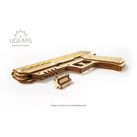 UGEARS UGR 70047 WOLF 01 HANDGUN WOODEN 62 PIECE KIT