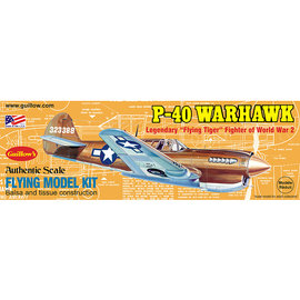 GUILLOWS GUI 501 P40 WARHAWK BALSA WOOD MODEL KIT