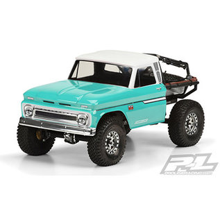 """Proline Racing PRO 3483-01 1966 Chevrolet C-10 Clear Body Cab Only SCX10 12.3"""" WHEELBASE"""