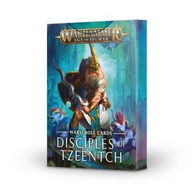 GAMES WORKSHOP WAR 60220201010 AOS WARSCROLL CARDS DISCIPLES OF TZEENTCH