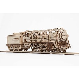 UGEARS UGR 70012 UGEARS STEAM LOCOMOTIVE AND TENDER WOOD KIT 443 PIECES