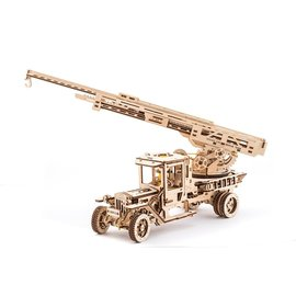 UGEARS UGR 70022 UGEARS LADDER FIRE TRUCK 537 PIECES WOOD KIT ADVANCED