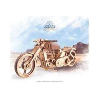 UGEARS UGR 70051 VM02 MOTORCYCLE WOODEN KIT 189 PIECES