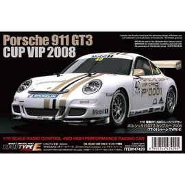 TAMIYA TAM 47429 1/10 Porsche 911 GT3 CUP VIP 2008 TT-01 Type-E RC KIT