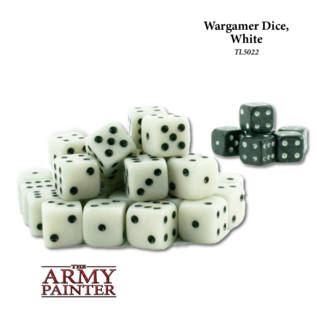 TAP TL5022 6 SIDE DICE PACK WHITE AND BLACK