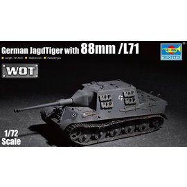 TRUMPETER TRU 07166 JAGDTIGER W 88MM 1/72 MODEL KIT