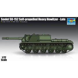 TRUMPETER TRU 07130 SOVIET SU152 HEAVY HOWITZER 1/72 MODEL KIT
