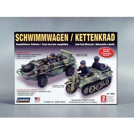 LINDBERG LND 76084 SCHWIMMWAGEN/KETTENKRAD 1/72 MODEL KIT