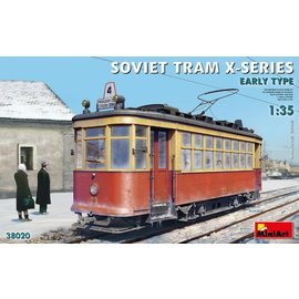MINIART MNA 38020 SOVIET TRAM X SERIES EARLY TYPE 1/35 MODEL KIT