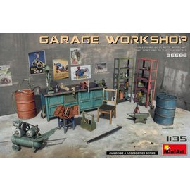 MINIART MNA 35596 GARAGE WORKSHOP 1/35 MODEL KIT