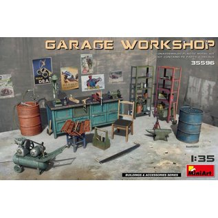 MINIART MNA 35596 GARAGE WORKSHOP 1/35 MODEL KIT