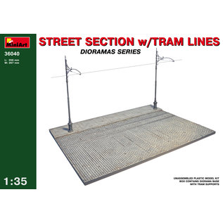 MINIART MNA 36040 STREET SCTION WITH TRAM LINES 1/35