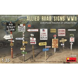 MINIART MIN 35608 ALLIED ROAD SIGNS WWII 1/35 MODEL KIT