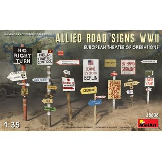 MINIART MIN 35608 ALLIED ROAD SIGNS WWII 1/35 MODEL KIT