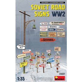 MINIART MNA 35601 SOVIET ROAD SIGNS WW2 1/35 MODEL KIT