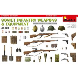 MINIART MNA 35304 1/35 WW2 SOVIET INFANTRY WEAPONS & EQUIPMENT
