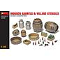MINIART MNA 35550 1/35 Wooden Barrels & VILLAGE UTENSILS MODEL KIT