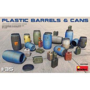 MINIART MNA 35590 PLASTIC BARRELS/CANS 1/35 MODEL KIT