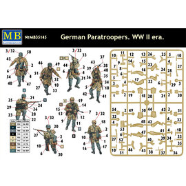 MASTERBOX M/B 35145 GERMAN PARATROOPER WW2 ERA 1/35 MODEL KIT