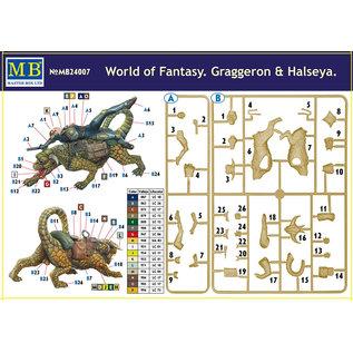 MASTERBOX M/B 24007 WORLD OF FANTASY GRAGGERON / HALSEYA KIT 1/24