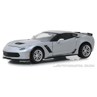 GREENLIGHT COLLECTABLES GLC 18256 CORVETTE 2019 SILVER 1/24 DIECAST