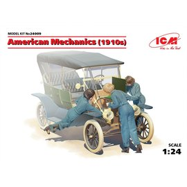 ICM 24009 AMERICAN MECHANICS 1910S 1/24 MODEL KIT