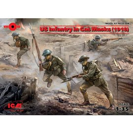 ICM 35704 US INFANTRY IN GAS MASKS 1918