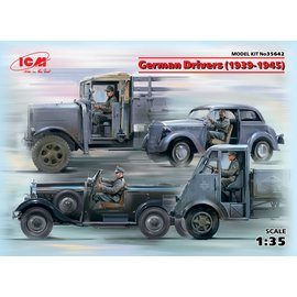 ICM 35642 GERMAN DRIVERS FIGURES 1939-1945 1/35 MODEL KIT
