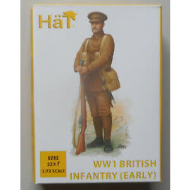 HAT 8292 WWI BRITISH INFANTRY (EARLY) 32 PACK 1/72 MODEL KIT