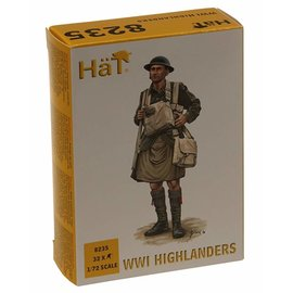 HAT 8235 WWI HIGHLANDERS 32 PACK 1/72 MODEL KIT