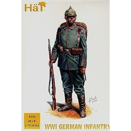 HAT 8200 WWI GERMAN INFANTRY 48 PACK 1/72 MODEL KIT
