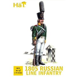 HAT 8072 1805 RUSSIAN LINE INFANTRY 1/72 MODEL KIT 48 PACK