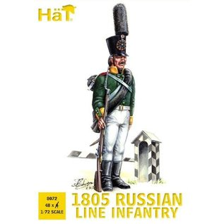 HAT 8072 1805 RUSSIAN LINE INFANTRY 1/72 MODEL KIT 48 PACK