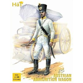 HAT 8225 AUSTRIAN AMMUNITION WAGON 3 PACK 1/72 MODEL KIT