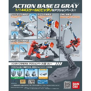 BANDAI BAN 150540 1/144 Gray Display Stand Action Base II