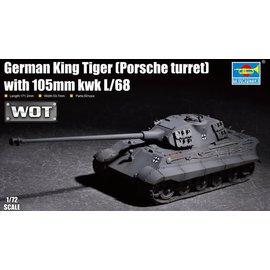 TRUMPETER TRU 07161 GERMAN KING TIGER PORSCHE TURRET 1/72 MODEL KIT