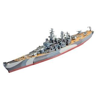 REVELL GERMANY REV 05128 1/1200 Battleship USS Missouri WWII MODEL KIT