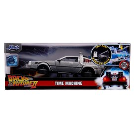JADA TOYS JAD 31468 BACK TO THE FUTURE 2 TIME MACHINE WITH LIGHTS