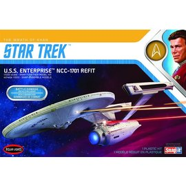 POLAR LIGHTS POL 974M 1/1000 Star Trek USS Enterprise Refit Wrath Khan model kit