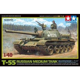 TAMIYA TAM 32598 RUSSIAN MEDIUM T55 TANK 1/48 MODEL KIT