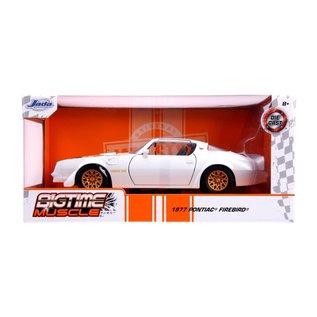 """JADA TOYS JAD 31600 Jada 1/24 """"BIGTIME Muscle"""" 1977 Pontiac Firebird - Pearl White"""