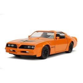 """JADA TOYS JAD 31601  Jada 1/24 """"BIGTIME Muscle"""" 1977 Pontiac Firebird - Metallic Orange diecast"""