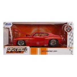 """JADA TOYS JAD 31645 Jada 1/24 """"BIGTIME Muscle"""" 1971 Pontiac GTO - Glossy Red die cast"""