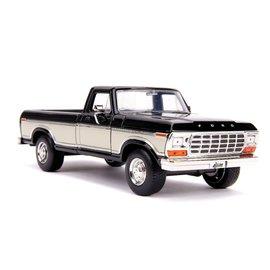 """JADA TOYS JAD 31585 Jada 1/24 """"Just Trucks"""" 1979 Ford F-150 Pickup Stock - Glossy Black"""