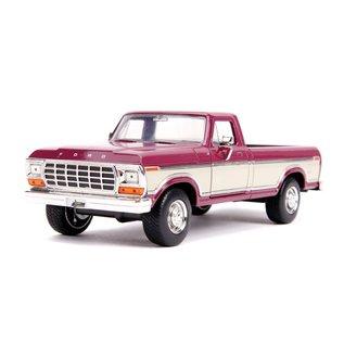 "JADA TOYS JAD 31586 Jada 1/24 ""Just Trucks"" 1979 Ford F-150 Pickup Stock - Metallic Burgundy"